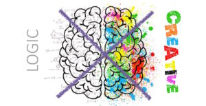 dessin coloré d'un cerveau humain