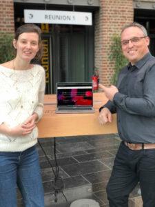 Fabrice, le directeur de l'agence de lille avec Hélène la créatrice de SUPERCOLLAB