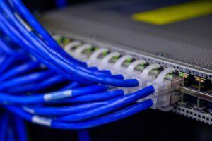 photo de plusieurs câbles ethernet