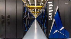 photo d'un super ordinateur dans un entrepot