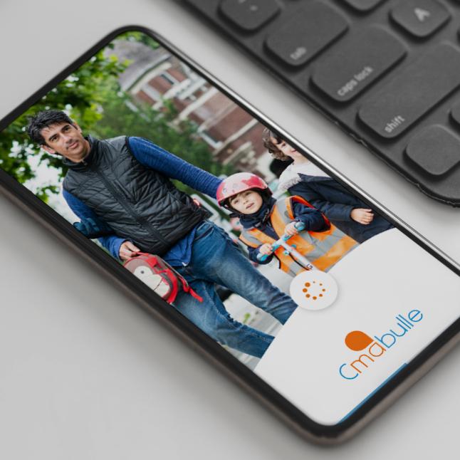 Présentation de l'application sur smartphone