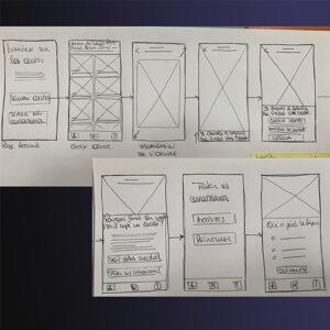 parcours utilisateurs en mode sketch (feuille et crayon)