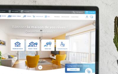 homepage de Primea sur un ordinateur portable
