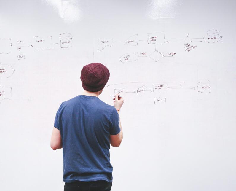 Un collaborateur définissant le périmètre d'un projet