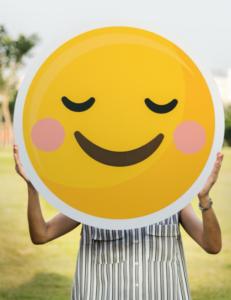 Image d'un grand smiley qui représente l'identité de l'agence la Mobilery