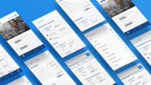 des mockups format mobile pour représenter le cas client EBP